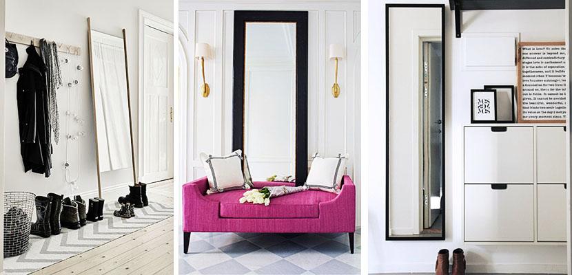 Espejos de pie trevo interiores for Decoracion paredes cuadros espejos